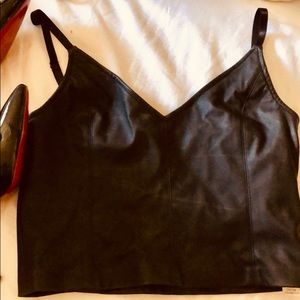 New Zar leather crop top
